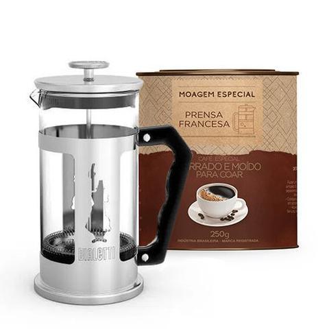 Imagem de Kit Cafeteira French Press 350ml Preziosa + Café Gourmet 250g