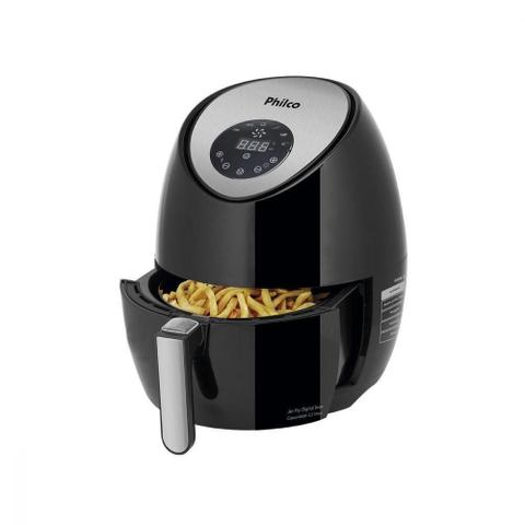 Imagem de Kit Cafeteira Philco Retrô PCF38 Vermelha 220V + Fritadeira Elétrica Sem Óleo/Air Fryer Philco - Digital Preta e Cinza 3,2L com Timer 220V