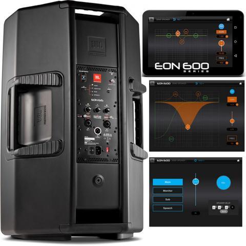 Imagem de Kit caixas JBL Eon 615 Bivolt 1000w + Microfones Sure SV100 + mesa behringer 1002 + cabos