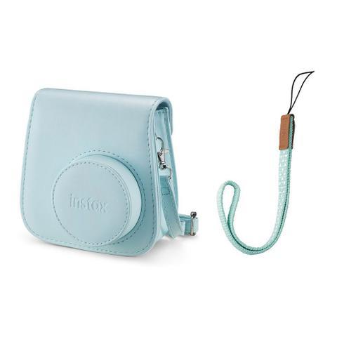 Imagem de Kit Câmera instantânea Fujifilm Instax Mini 9 c/ Bolsa e Filme 10 poses - Azul Aqua