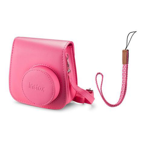 Imagem de Kit Câmera instantânea Fujifilm Instax Mini 9 c/ Bolsa e Filme 10 poses - Rosa Flamingo