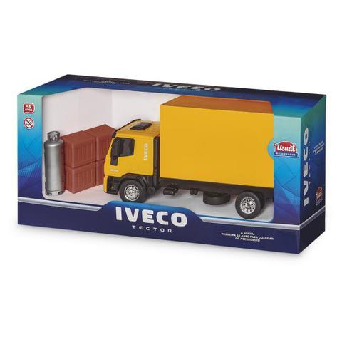 Imagem de Kit Caminhão Iveco Tector Bau +Empilhadeira Pneu de Borracha