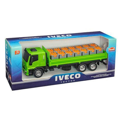 Imagem de Kit Caminhão Iveco Tector Bebida +Empilhadeira Pneu Borracha