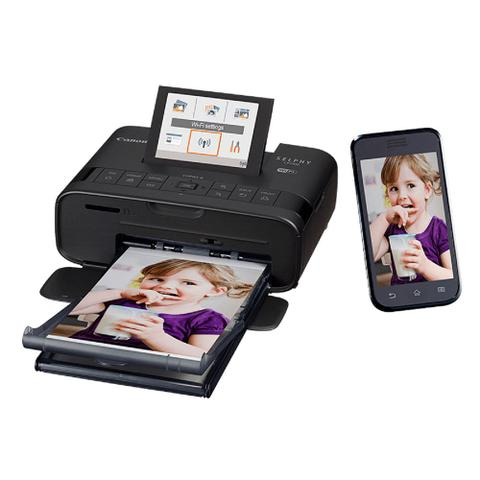 Imagem de Kit Canon - Impressora Selphy CP1300 c/ Wi-Fi + toners e papéis fotog. + Porta Retrato
