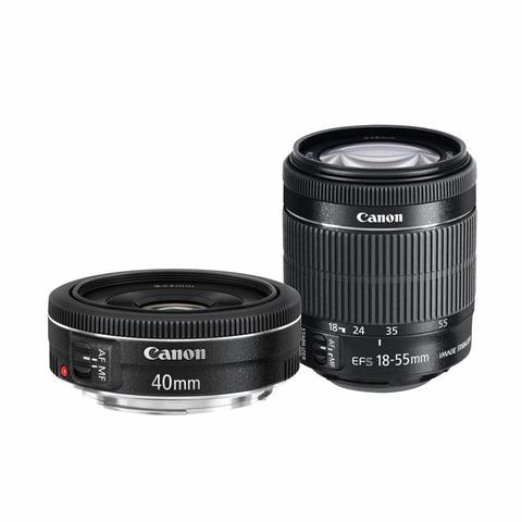 Imagem de Kit Canon T6i + 18-55mm IS STM + 40mm f/2.8 STM