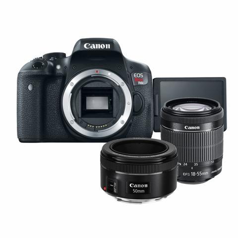 Imagem de Kit Canon T6i + 18-55mm IS STM + 50mm f/1.8 STM