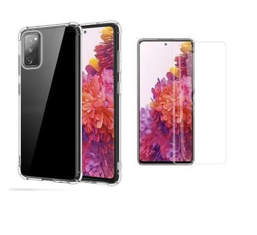 Imagem de Kit Capa Antishock Reforçada Samsung Galaxy S20 FE + 01 Película De Nano Gel + Acompanha Kit Sachê