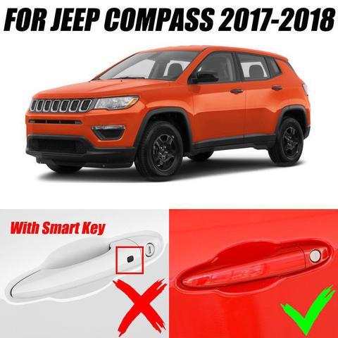 Imagem de Kit Capa Aplique Maçaneta Jeep Compass Cromado 4 Portas