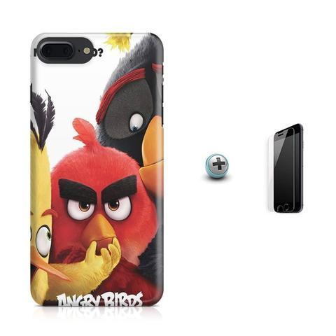 Imagem de Kit Capa Case TPU iPhone 8 Plus - Angry Birds + Pel Vidro (BD01)