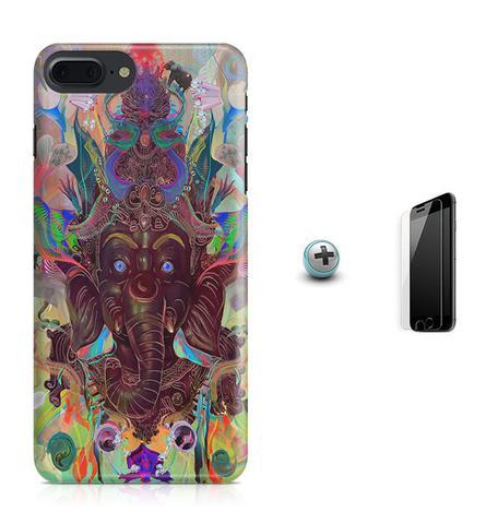 Imagem de Kit Capa Case TPU iPhone 8 Plus - Ganesha + Pel Vidro (BD01)
