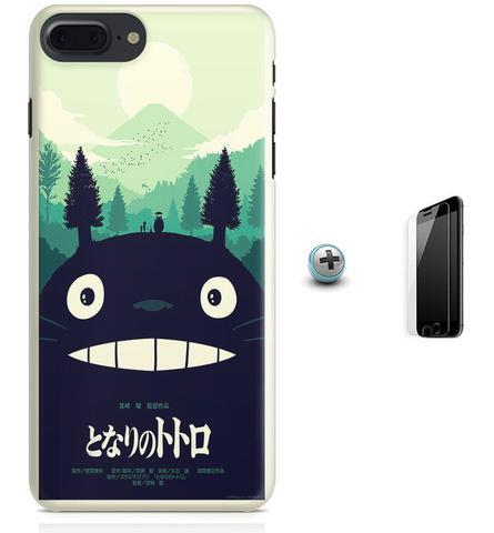 Imagem de Kit Capa Case TPU iPhone 8 Plus - Meu Amigo Totoro + Pel Vidro (BD30)