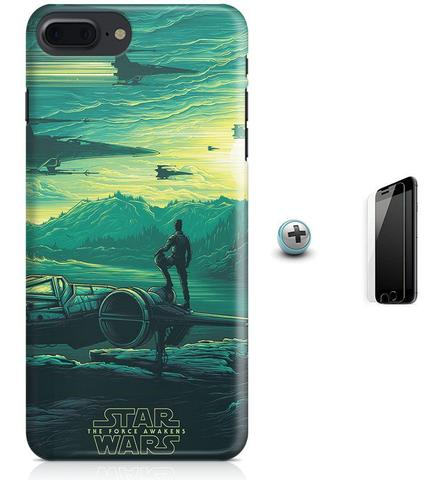 Imagem de Kit Capa Case TPU iPhone 8 Plus - Star Wars O Despertar da Força + Pel Vidro (BD30)