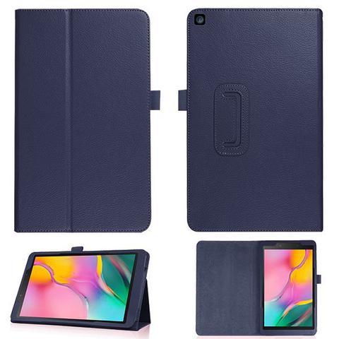 Imagem de Kit Capa compatível Samsung Tab A 10.1 1 T510 T515 Magnética Azul + Vidro
