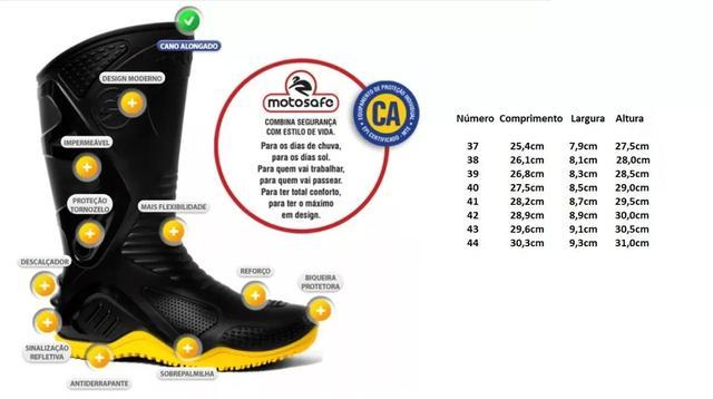Imagem de Kit Capa de Chuva Delta Flex + Bota Motosafe PVC Motociclista