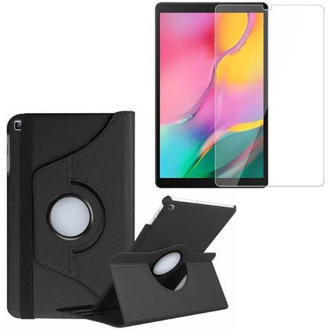 Imagem de Kit Capa Giratória + Película de Vidro Blindada Samsung Galaxy Tab A 10.1 T515/T510