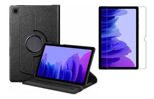 Imagem de Kit Capa Giratória + Película de Vidro Blindada Samsung Galaxy Tab A 10.4 T500/T505