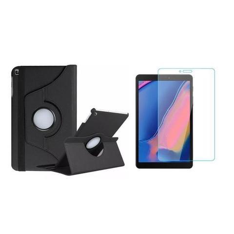 Imagem de Kit Capa Giratória Preta + Película de Vidro Blindada Samsung Galaxy Tab A 8.0' T290 T295