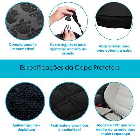 Imagem de Kit Capa Pet Banco Traseiro + Cinto De Segurança Carro Universal