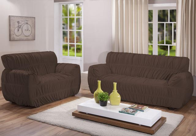 Imagem de Kit capa sofa 2/3 lugares 21 elásticos varias cores