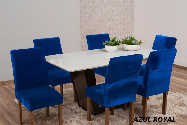 Imagem de Kit capas para cadeira  veludo  mesa de jantar 6 peças - excelente qualidade!