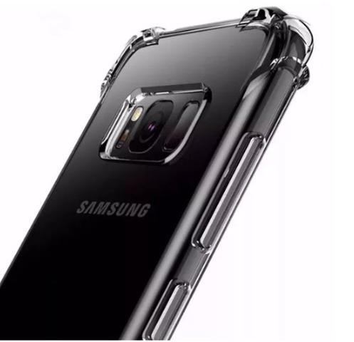 Imagem de Kit Capinha Silicone Antichoque + Pelicula Vidro 5D Preta Samsung S8