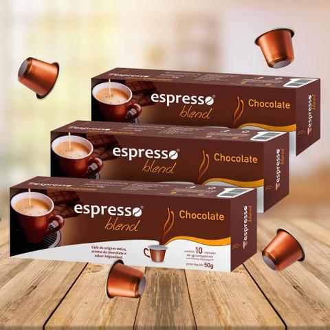 Imagem de Kit Cápsulas Espresso Blend Chocolate Compatível com Nespresso - 3 Caixas
