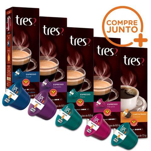 Imagem de Kit Cápsulas Três Corações Espressos - 50 Cápsulas