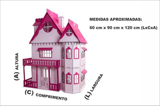 Imagem de Kit Casa Boneca e Móveis Escala Barbie Emily S+S - Darama