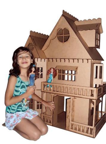 Imagem de Kit Casa Boneca Móveis Barbie Emily MDF Cru C+C - Darama