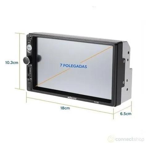 Imagem de Kit Central Multimidia + Camera de Ré + Moldura palio strada siena idea 05 até 12 Mp5 Player C19a