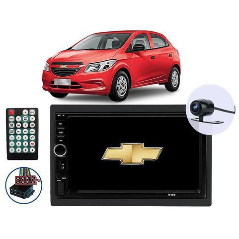 Imagem de Kit Central Multimídia para Chevrolet Onix 2013 a 2019 com tela de 7