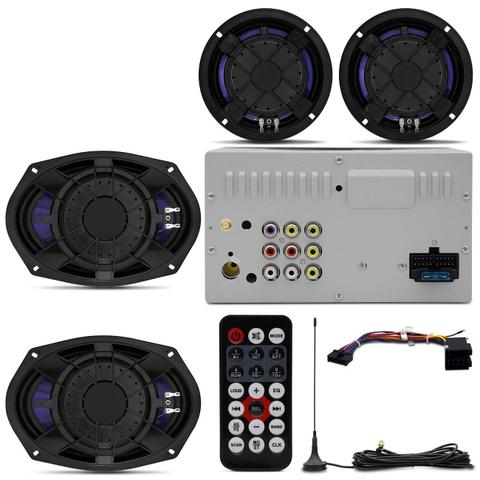 Imagem de Kit Central Multimídia Shutt Chicago TV 7 Pol Led Bluetooth Tv Digital USB + Kit Fácil Falante Shutt