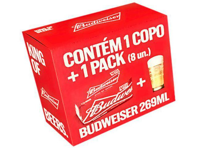 Imagem de Kit Cerveja Budweiser American Standard Lager