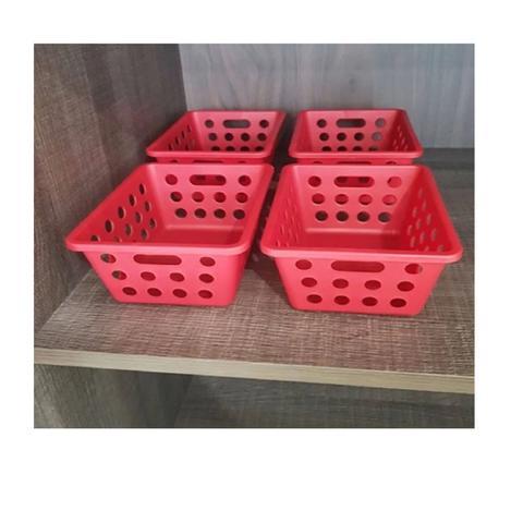 Imagem de Kit cesta one pague 3 leve 4 pequeno vermelho bold 99245 coza