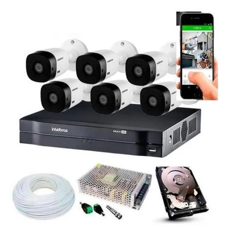 Imagem de Kit Cftv 6 Câmeras Multi Hd Dvr 8 Canais Intelbras 1108