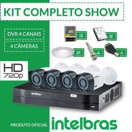 Imagem de Kit cftv intelbras completo alta definição 4 câmeras hd