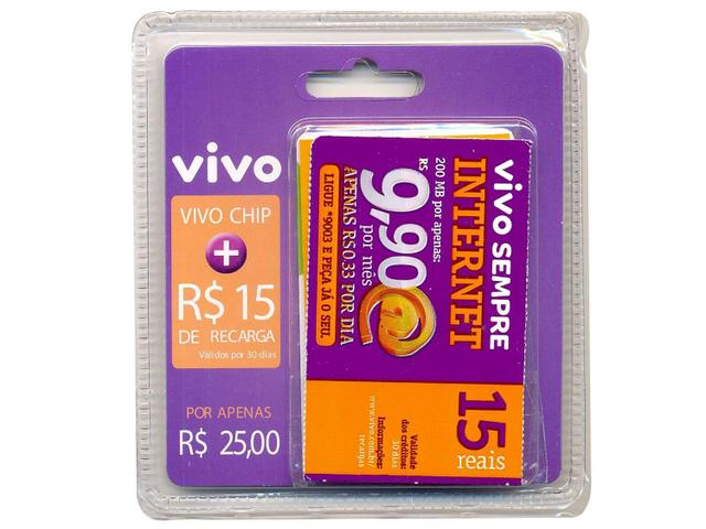 Imagem de Kit Chip Vivo com Recarga R15,00