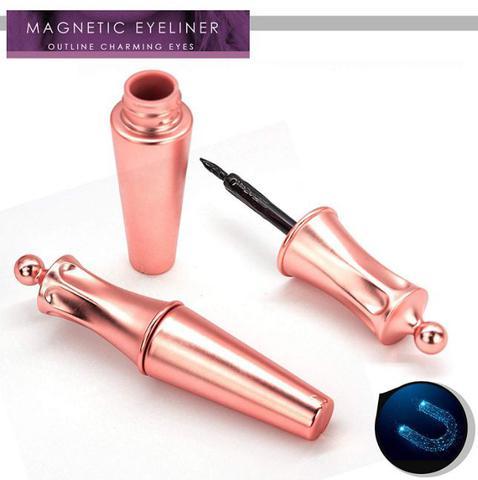 Imagem de Kit Cílios E Delineador Magnéticos Com  Pinça - Novidade
