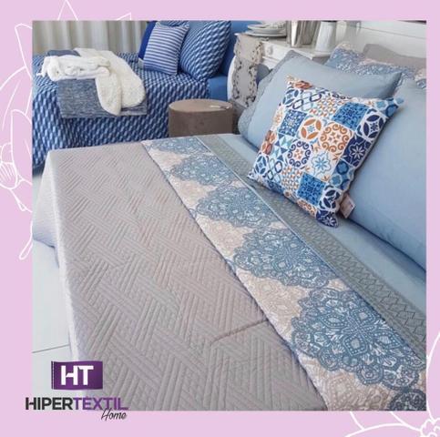 Imagem de Kit cobreleito ultralisse queen - azul arabesco - 01 cobre leito queen
