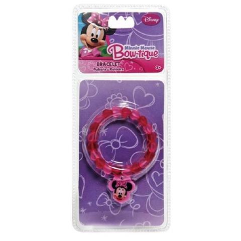 Imagem de Kit Colar E Pulseira Infantil Minnie Disney Gratís um Adesivo