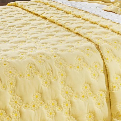 9b352e385e Imagem de Kit Colcha Queen Algodão 200 Fios 3 Peças Nuance Bernadete Casa  Amarelo