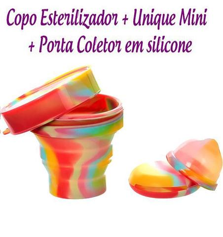 Imagem de Kit Coletor Menstrual UNIQUE  30ml + Copo Esterilizador Unicorn