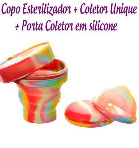 Imagem de Kit Coletor Menstrual UNIQUE 60ml + Copo Esterilizador Unicorn Lumma