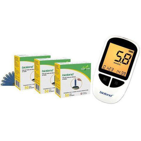 Imagem de Kit Com 03 Cx. Fita Para medir Glicose e 01 Medidor Glicose