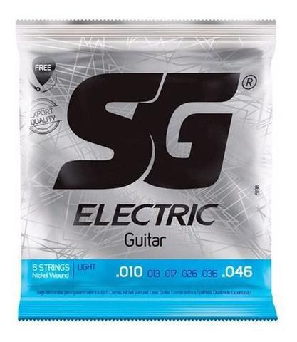 Imagem de Kit Com 05 Jogos De Cordas Para Guitarra SG 010 Nickel Wound
