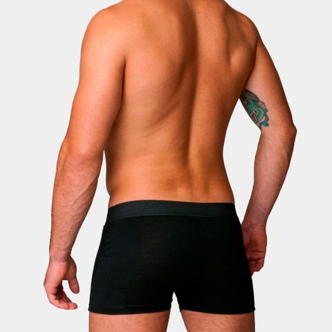 Imagem de Kit Com 10 Cuecas Boxer Cotton Confort Masculina Part.B Preta