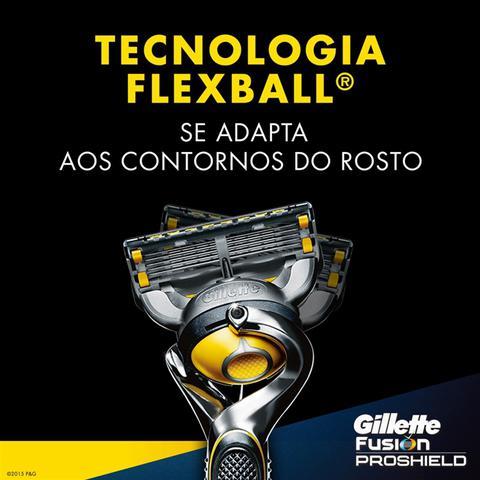 Imagem de Kit com 12 Cargas Gillette Fusion Proshield + 1 Porta Chuteira