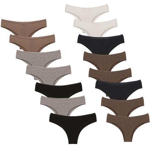 Imagem de Kit com 15 Calcinhas Modelo Americana - Mel