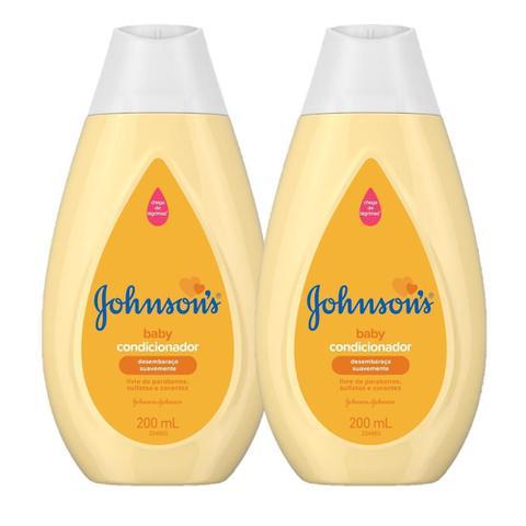 Imagem de Kit com 2 Condicionadores Johnsons Baby Regular 200ml