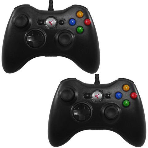 Imagem de Kit Com 2 Controles Para Xbox 360 / Pc 2 Em 1 - Entrada Usb